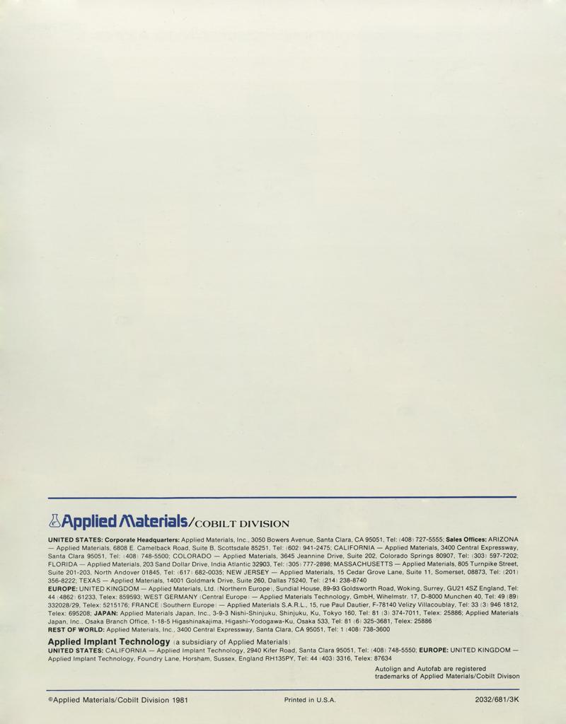 Applied Materials - Autolign CA 3400 Mask Aligner