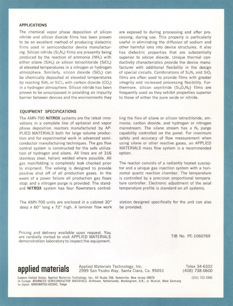 Applied Materials - Nitrox AMN-710