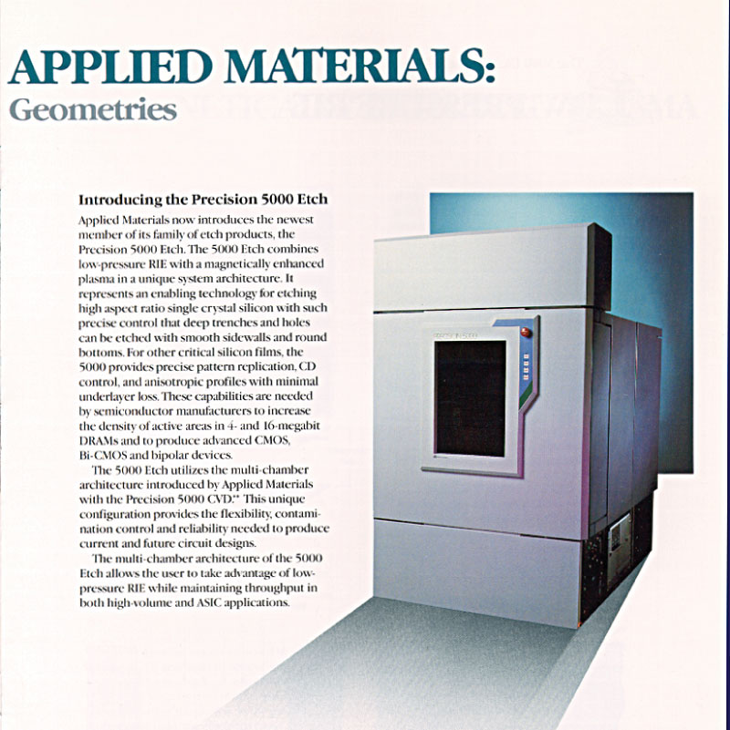 Applied Materials - P5000, Etcher