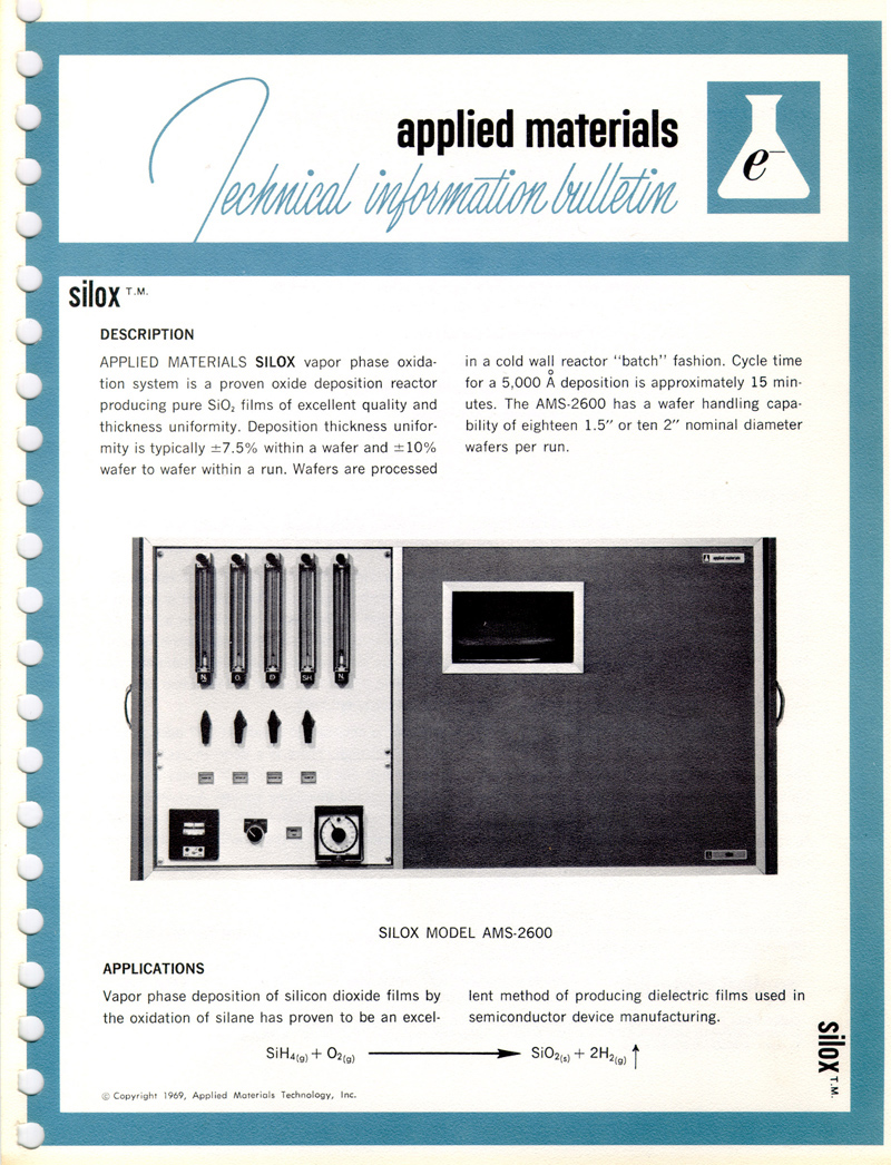 Applied Materials - Silox Model AMS 2600 & 2660