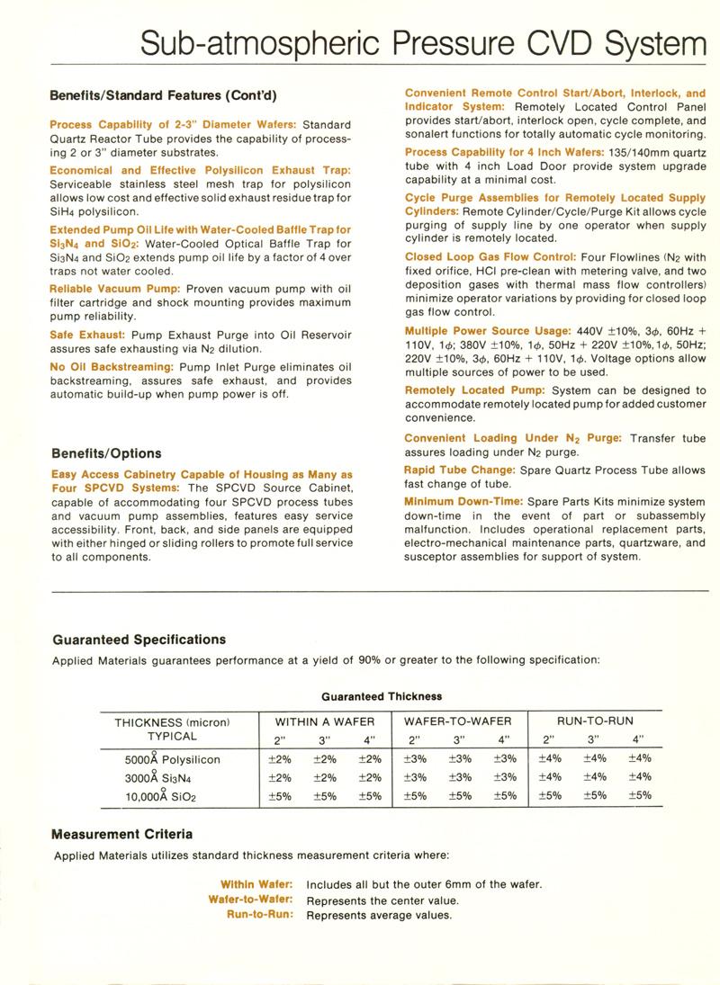 Applied Materials - SPCVD-4000