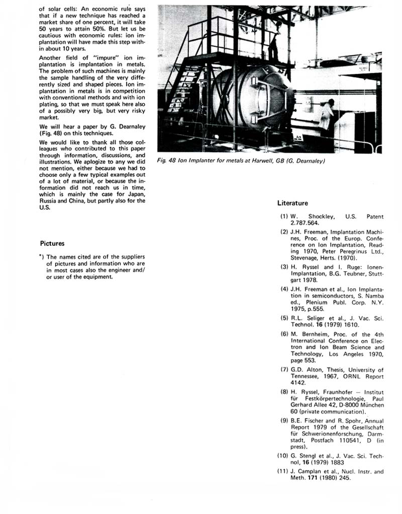 history of ion implantation