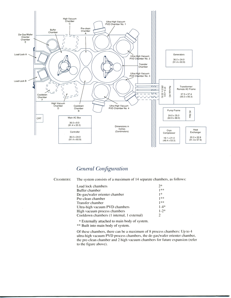 Applied Materials - Endura 5500 PVD System Specification
