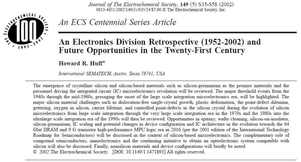 Silicon and the Microelectronics Revolution