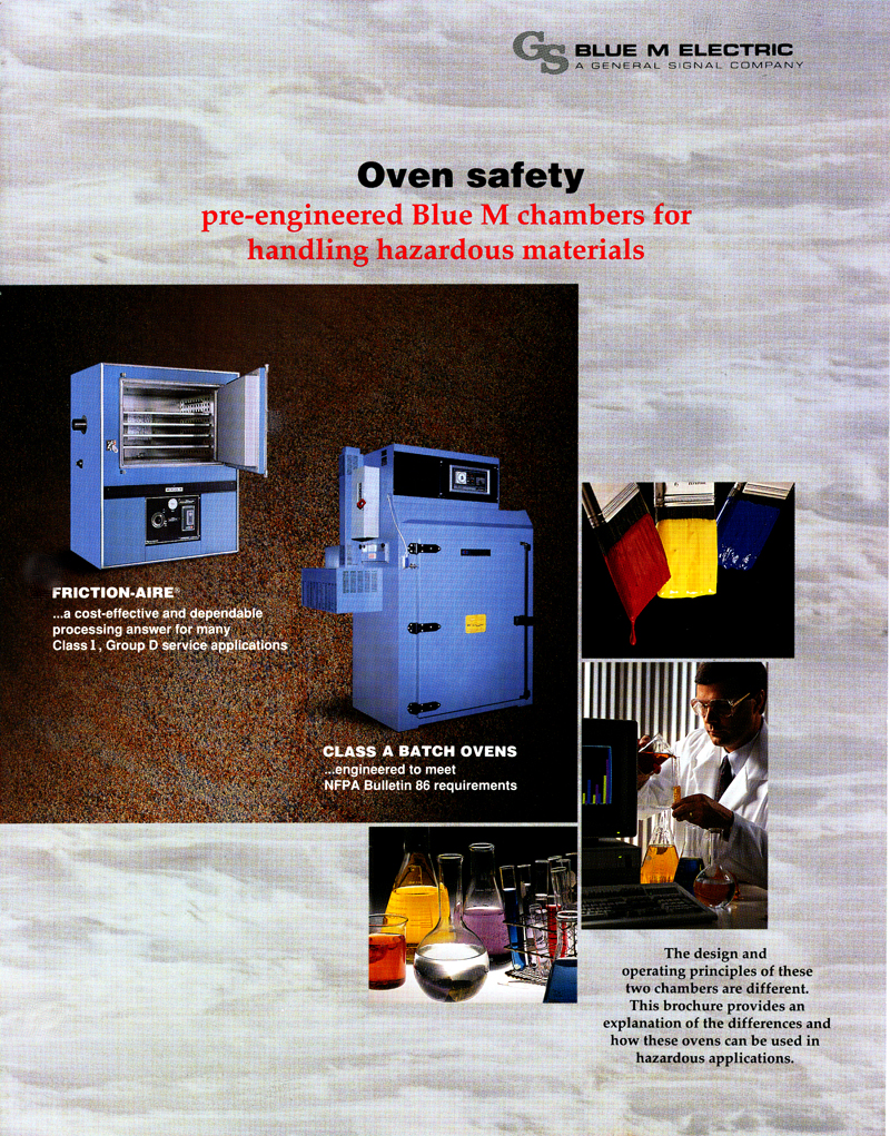 Summary Blue M Cl A Batch Ovens Are Mechanical Convection Electric Chambers That Include Safety Features Recommended In Nfpa Bulletin 86 As Standard