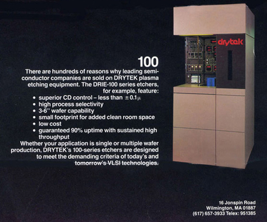 Drytek - DRIE 100 Plasma Etcher