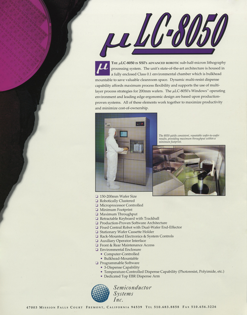 Semiconductor Systems - 8050 Lithography System