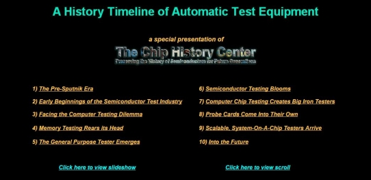 A History Timeline of Automatic Test Equipment