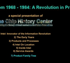 Intel Timeline from 196 ...