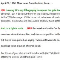 IBM using 1X x-ray lith ...