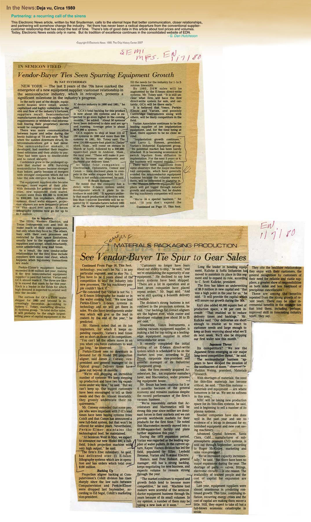 In the News: Deja vu, Circa 1980