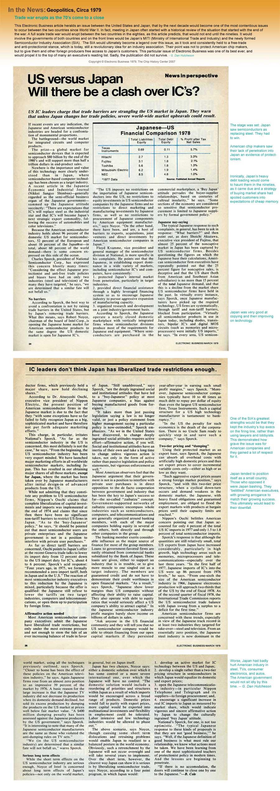 In the News: Geopolitics, Circa 1979