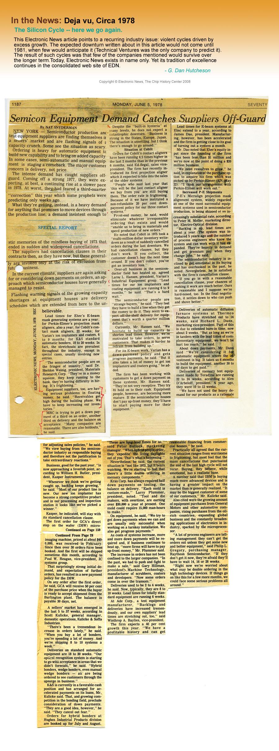 In the News: Deja vu, Circa 1978
