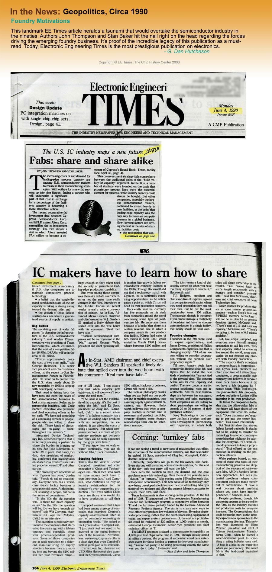 In the News: Geopolitics, Circa 1990