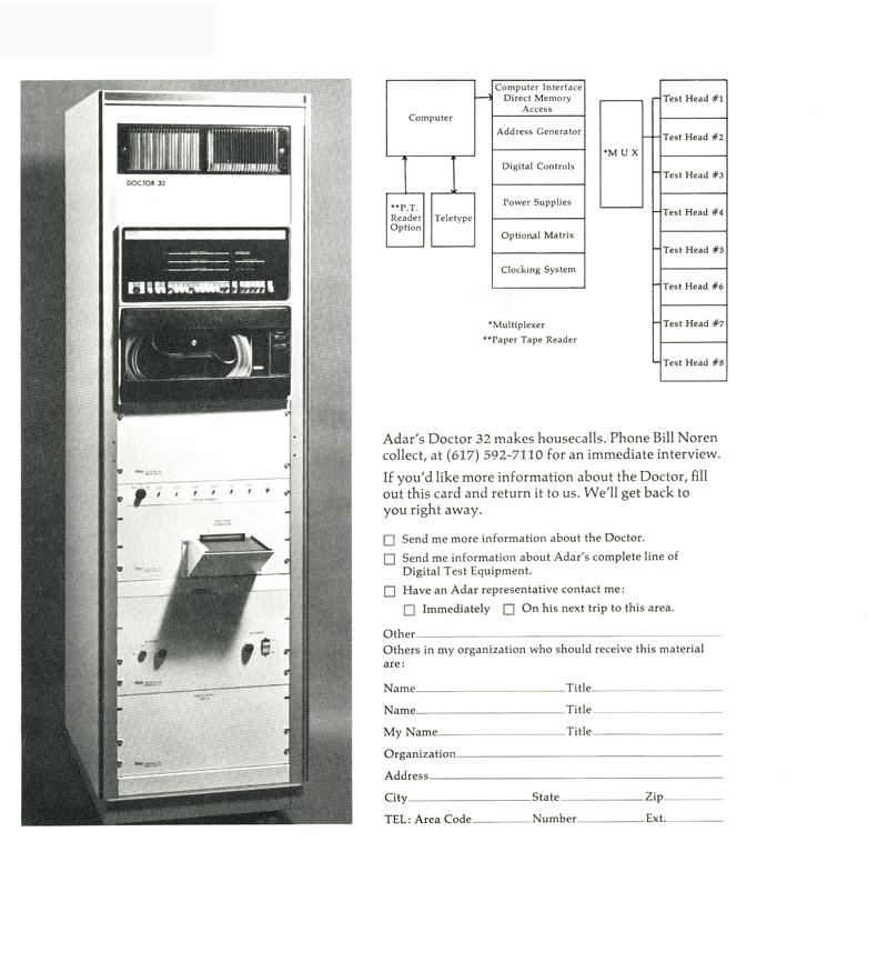 Adar Doctor 32 RAM/ROM Memory Tester-first in family of doctors
