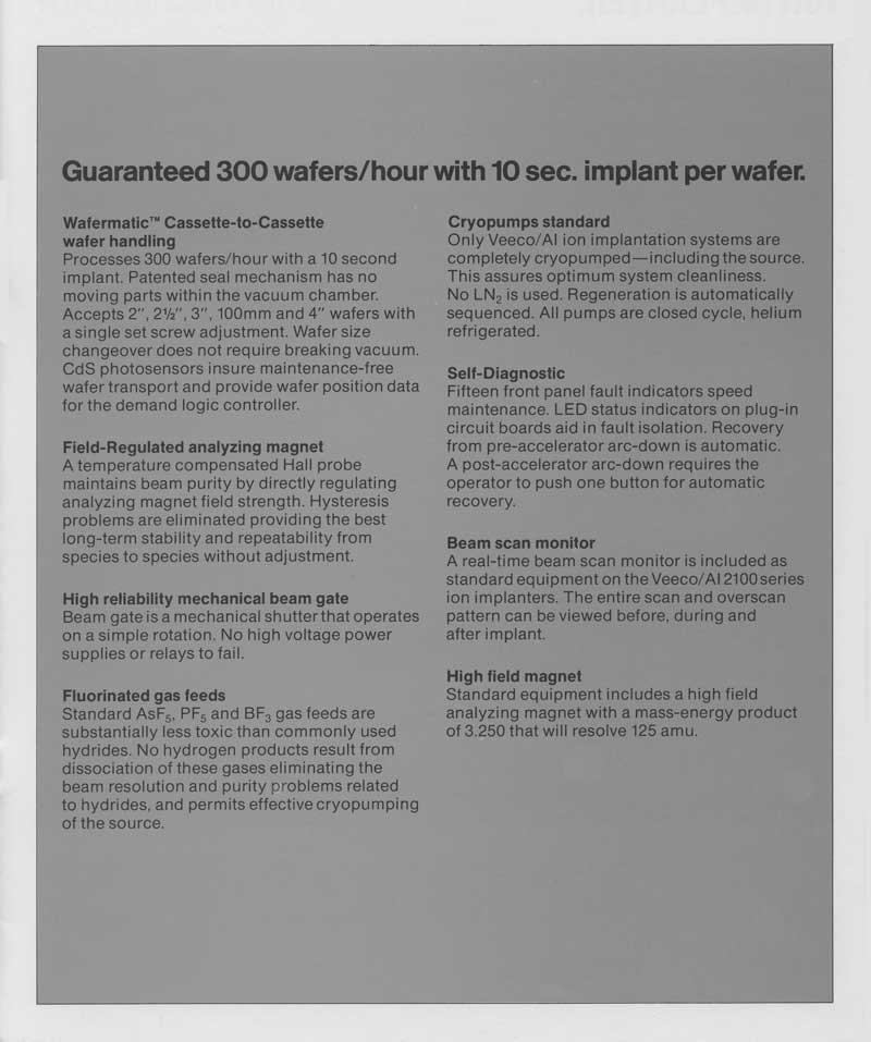Veeco - ai Model 2100 Ion Implantation equipment from vecco